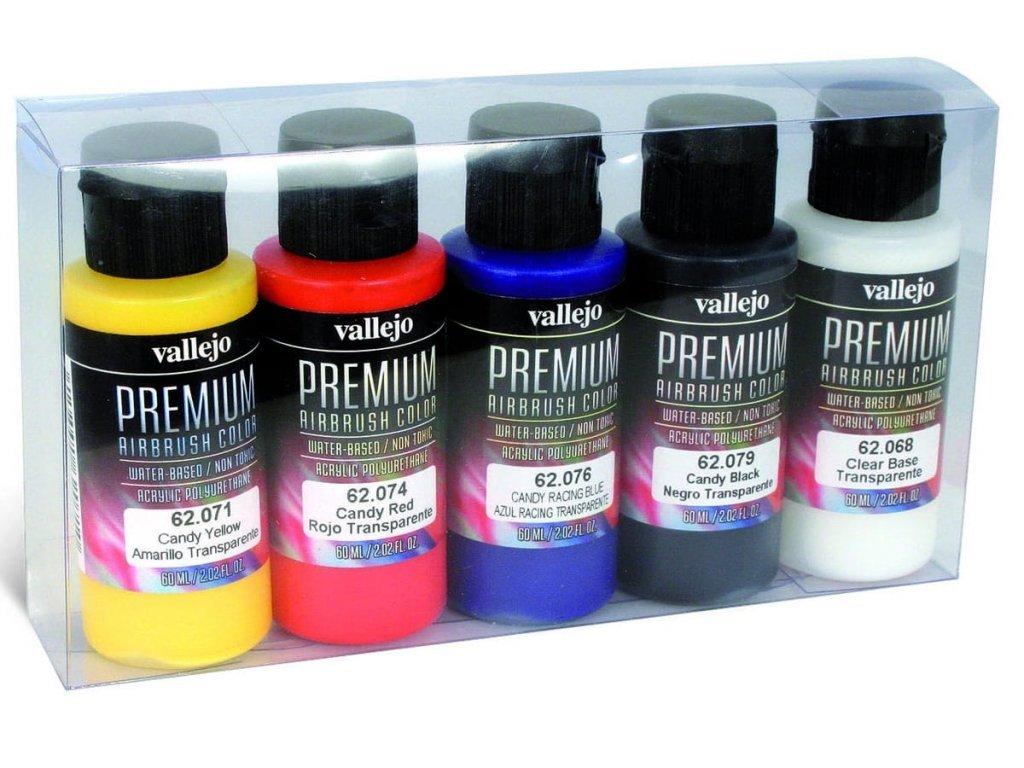 Vallejo PREMIUM Color - Candy Transparent Color Set (5x60ml)