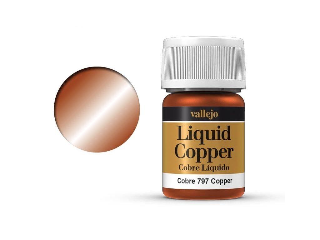 Farba Vallejo Liquid 70797 Copper (Alcohol Based) (35ml)