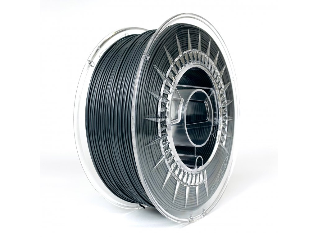PET-G 175mm filament tmavo sivý dark grey Devil Design