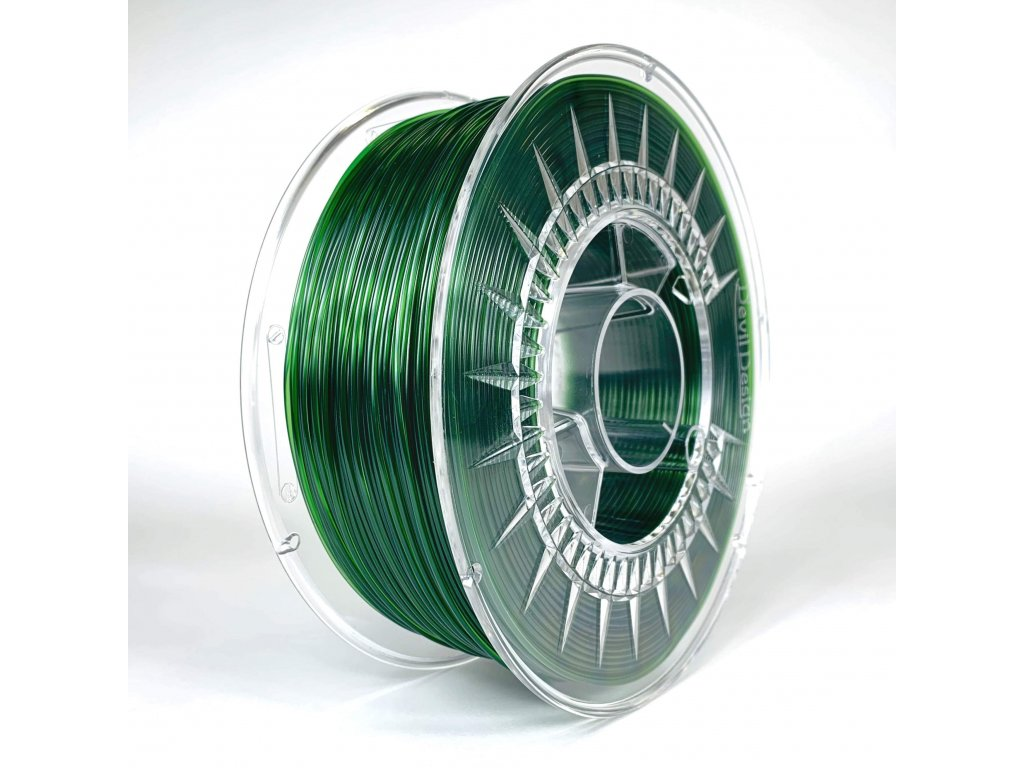 Green transparent Devil Design Petg 1,75mm 1 kg