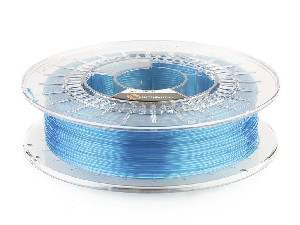 Flexibilná tlačová struna modrá transprentná  TPU 98A Fillamentum 1,75mm
