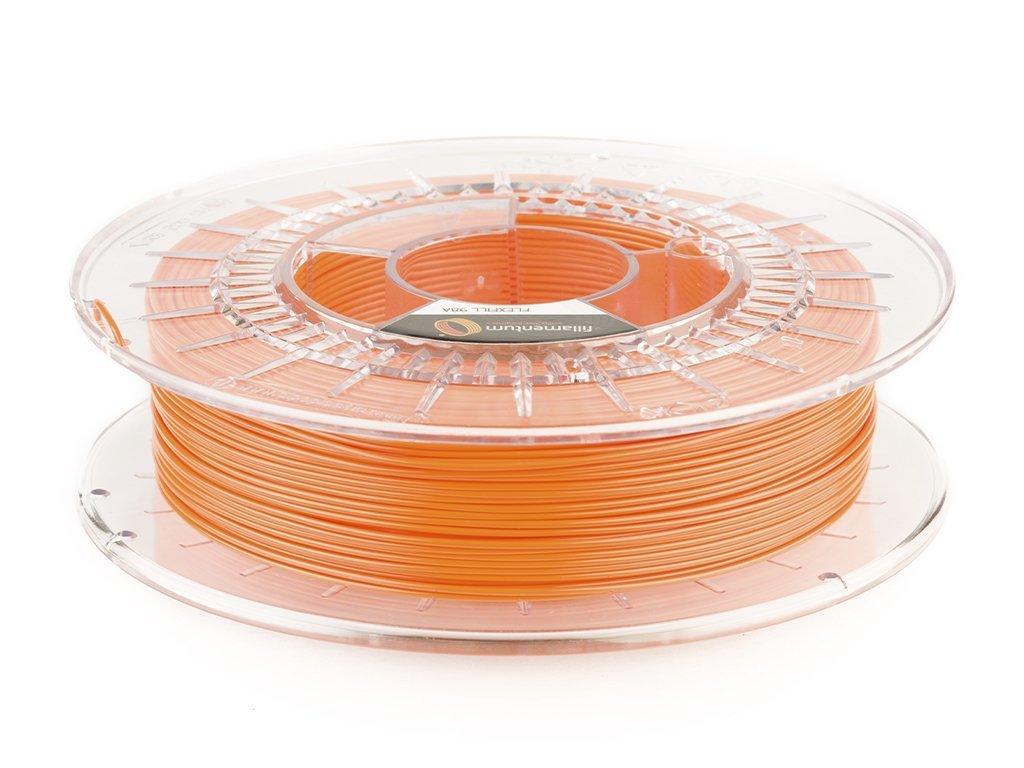 Struna pre 3D tlač filamentum TPU98A flexibilná oranžová 0,5kg 1,75mm