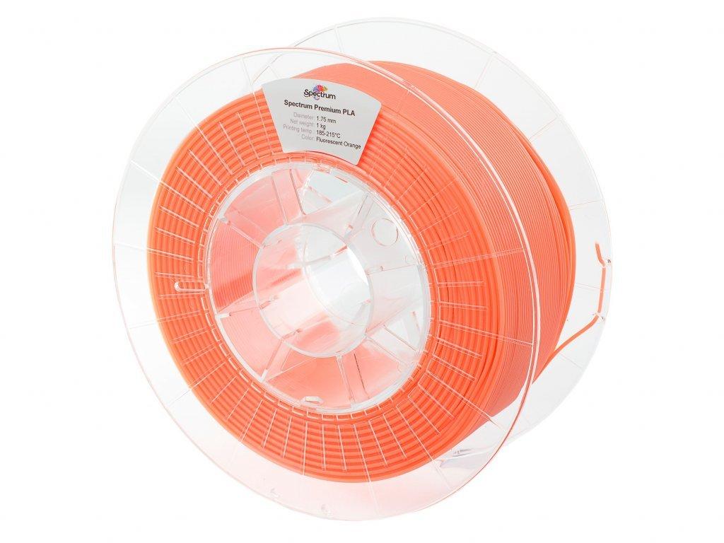 PLA filament Fluorescent Orange 1,75 mm Spectrum 1 kg