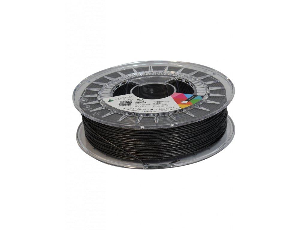 PLA filament trblietavý čierny glitter black 1,75 mm Smartfil 750g