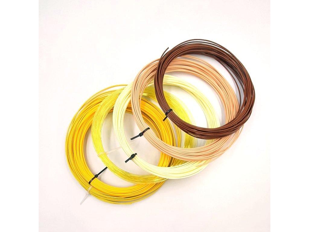 Vzorkovník farieb PETG Devil Design - 6 žlto hnedých odtieňov 1,75mm