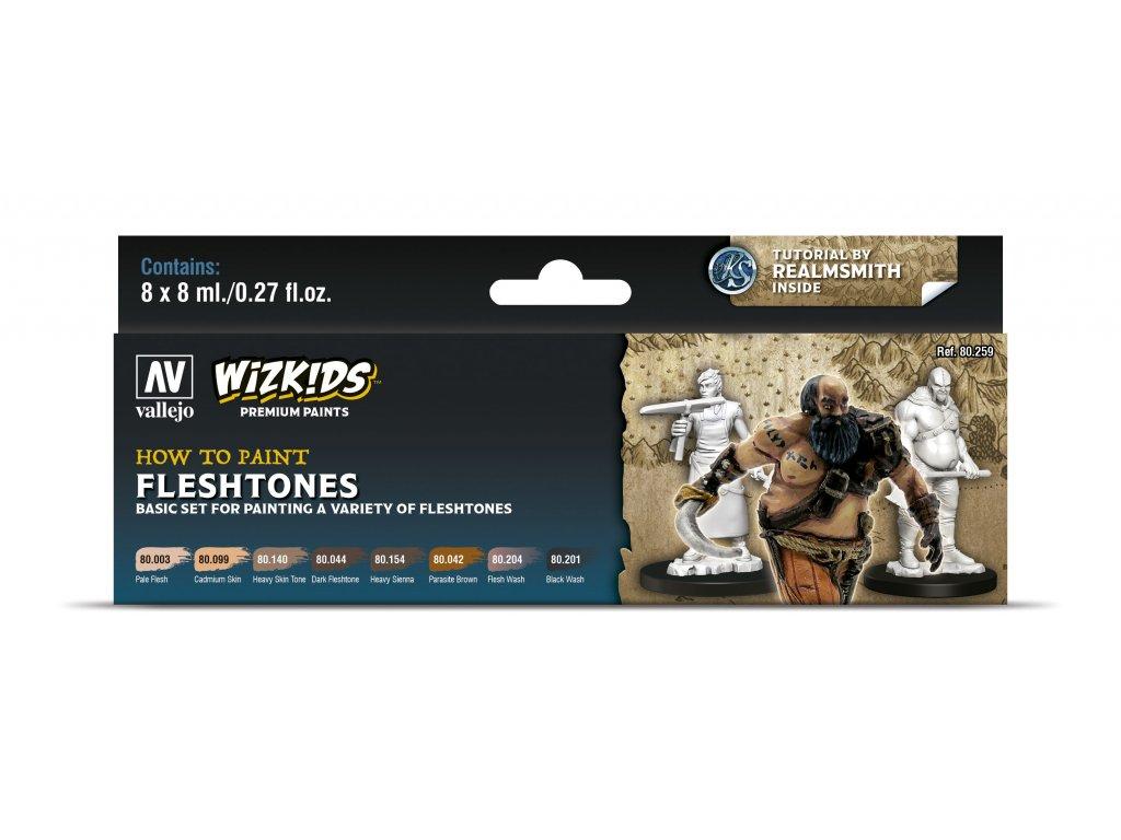 Vallejo Wizkids Premium Set 80259 Fleshtones (8)