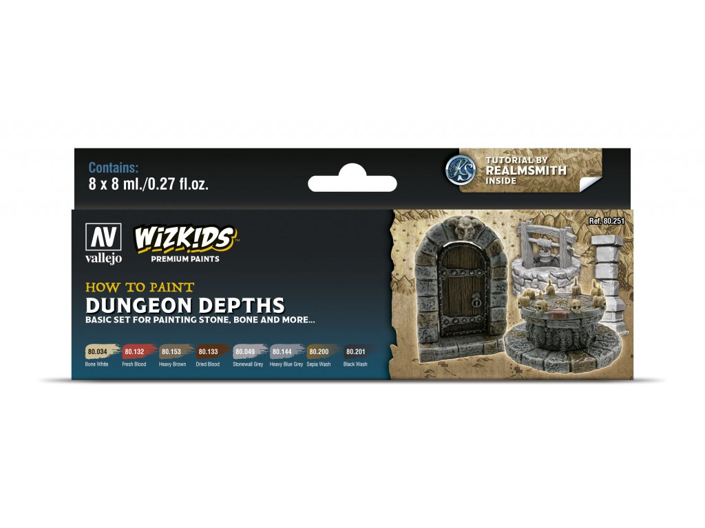 Vallejo Wizkids Premium Set 80251 Dungeon Depths (8)