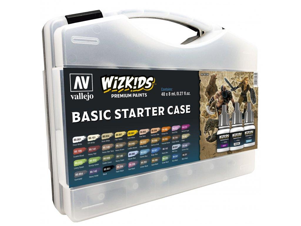 8429 vallejo wizkids premium set 80260 basic starter case 40x8ml