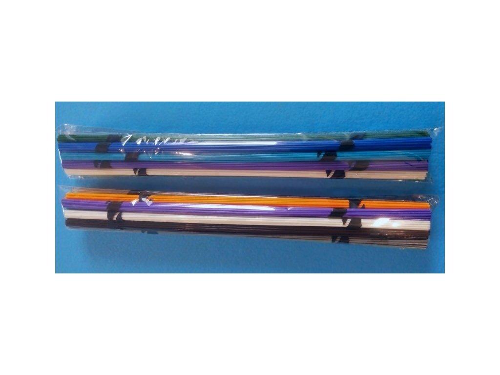 Struny do 3D pera PLA bez krabičky 1,75mm 330mm 15 farieb (75bm) 225ks