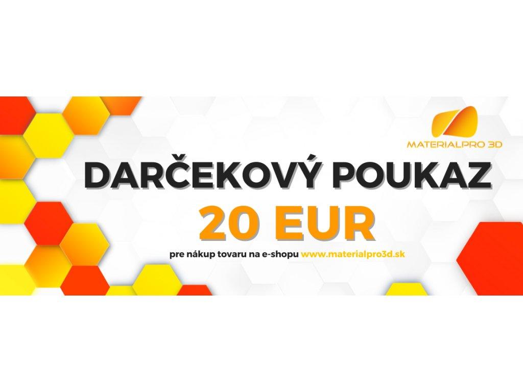 Darčekový poukaz pre nákup v hodnote 20 EUR