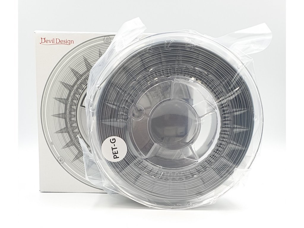 PET-G tlačová struna 1,75 mm strieborná Devil Design 1 kg