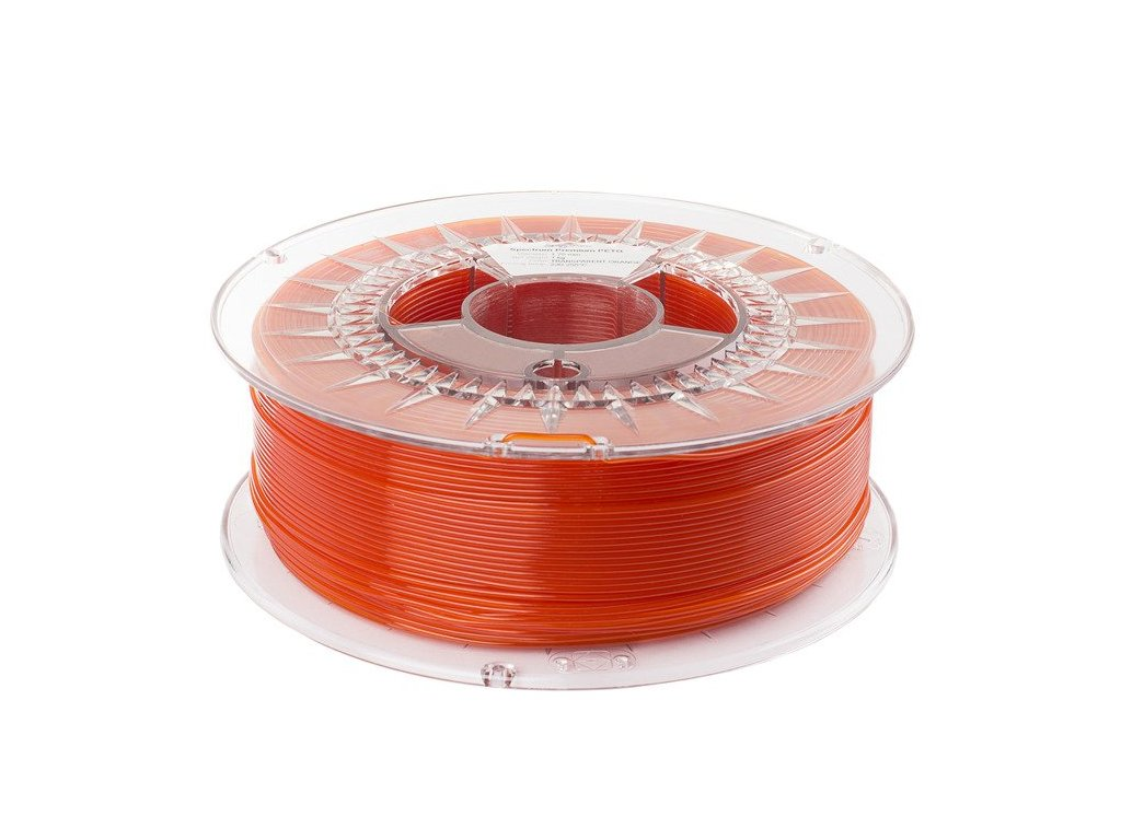 PETG filament Transparent Orange 1,75 mm Spectrum 1 kg