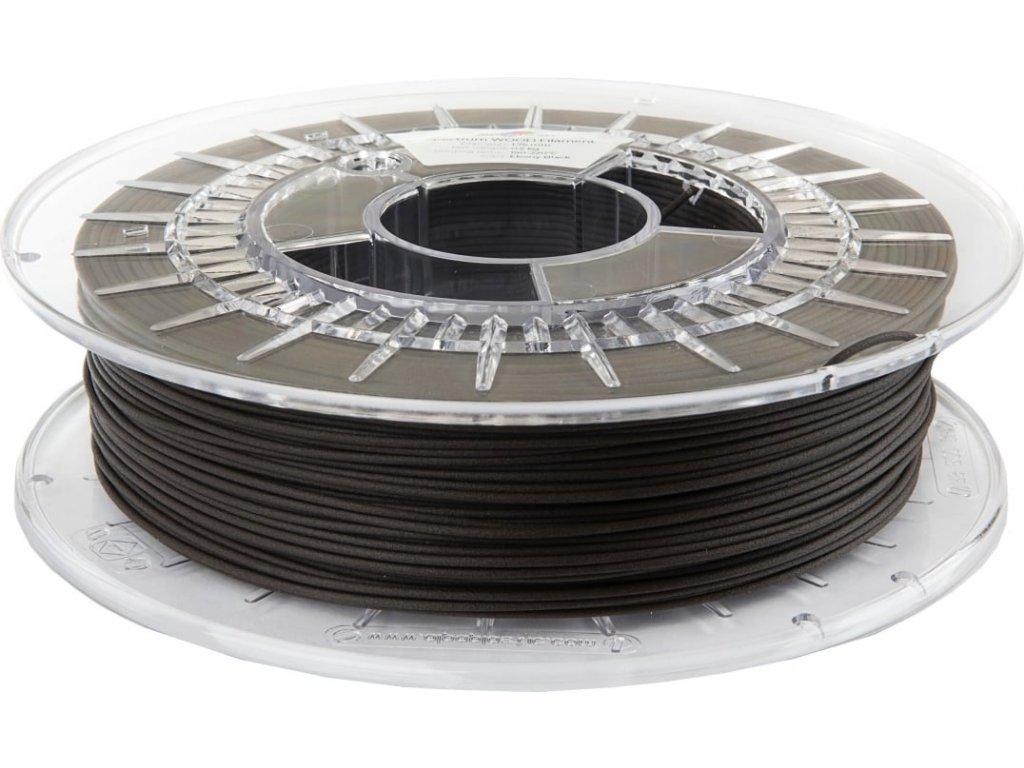 WOOD filament ebony black 1,75 mm Spectrum 1 kg