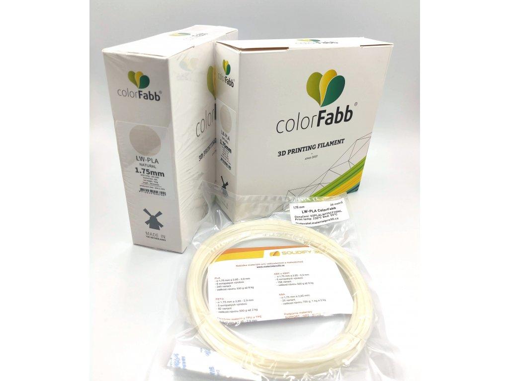 VZORKA 20 METROV - LW PLA natural filament 1,75 mm ColorFabb