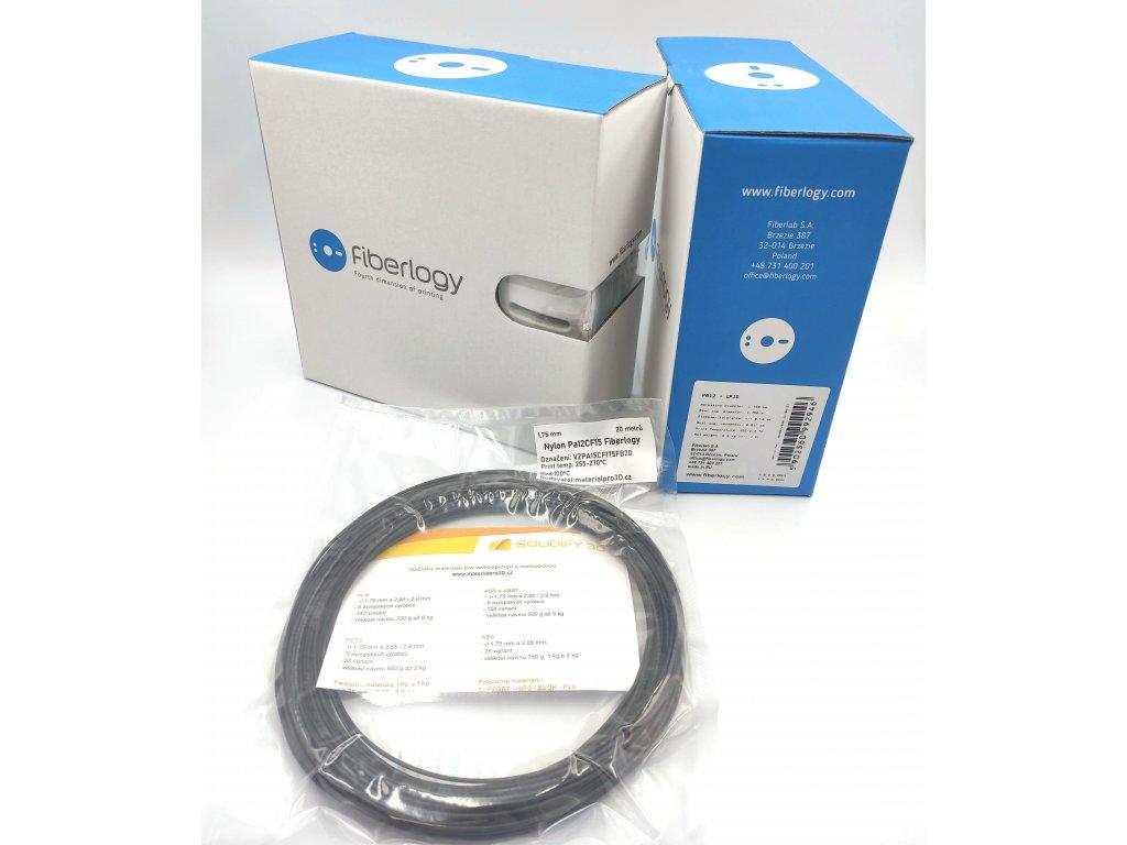 VZORKA 20 METROV - Nylon PA12 + CF15 čierny 1,75mm Fiberlogy