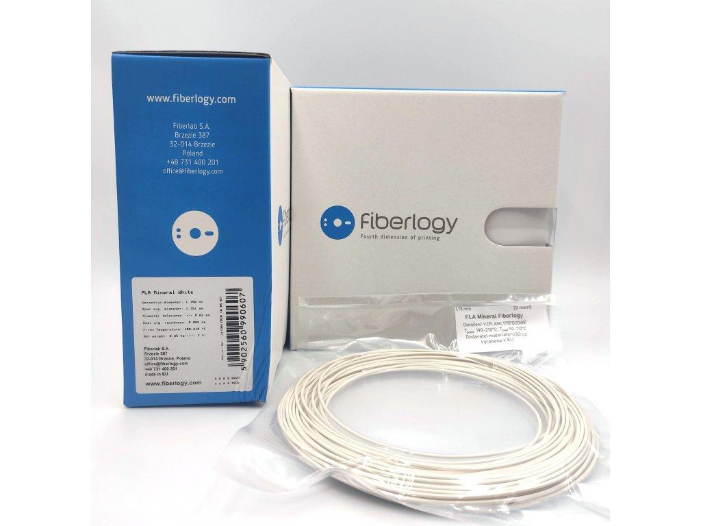 VZORKA 20 METROV - PLA MINERAL filament biely 1,75mm Fiberlogy