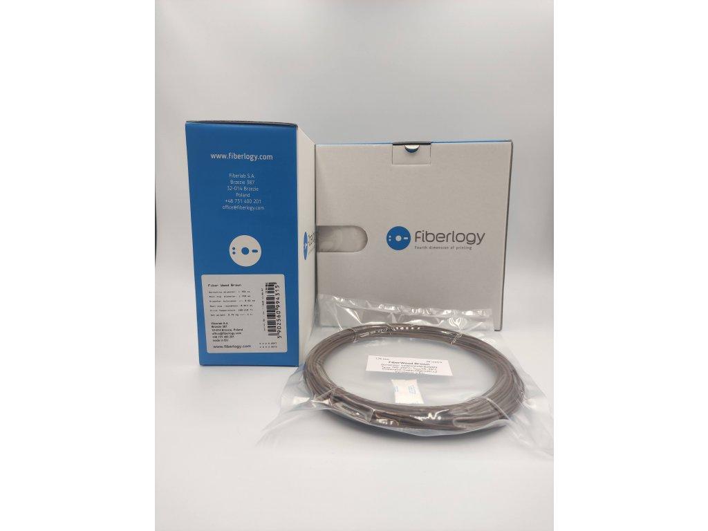 VZORKA 20 METROV - WOOD filament hnedý 1,75mm Fiberlogy