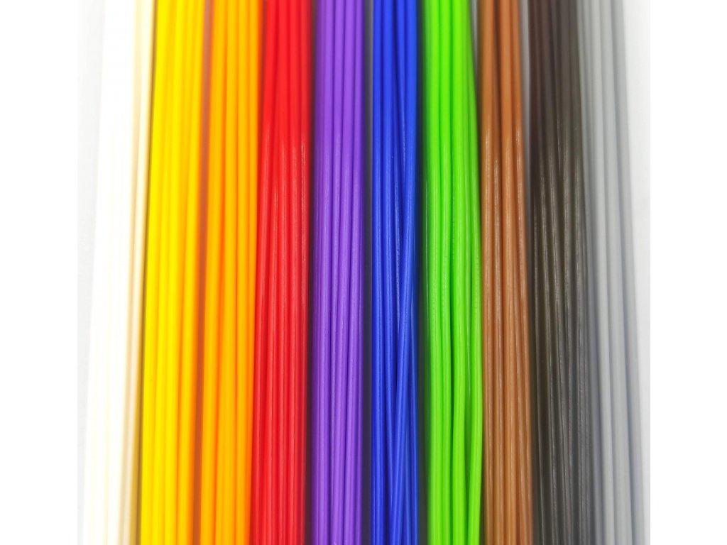Struny do 3D pera PLA 1,75mm bez krabičky 10 farieb (50bm) eko 150 ks