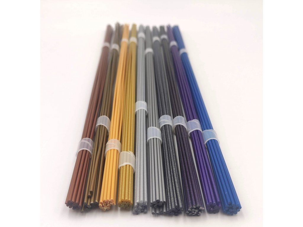 Struny do 3D pera PLA 1,75mm bez krabičky 10 metalických farieb (50bm) eko 150 ks
