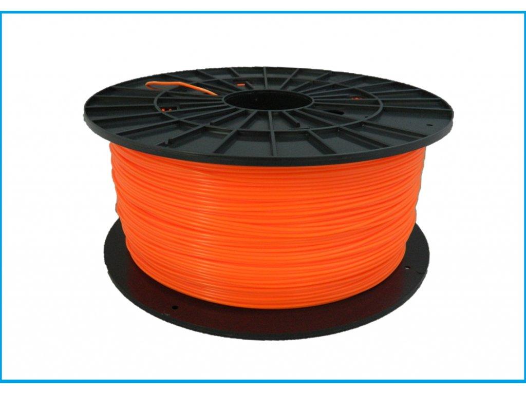 """Nové zloženie - Tlačová struna ABS, Plasty Mladeč, 1,75 mm orange, 1 kg  """"ABS not dead"""""""