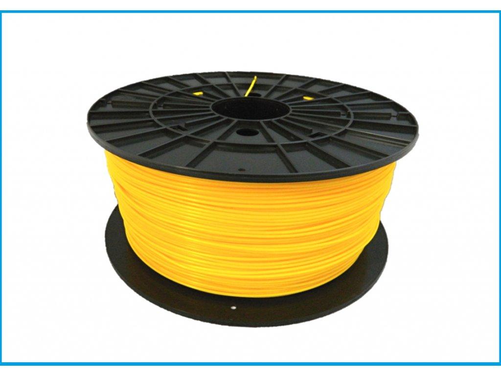 """Nové zloženie - Tlačová struna ABS, Plasty Mladeč, 1,75 mm yellow, 1 kg """"ABS not dead"""""""