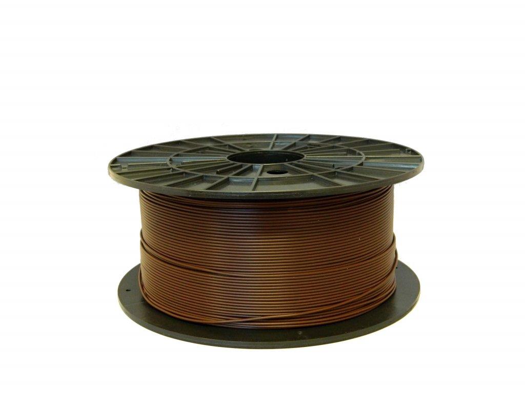 Tlačová struna, Plasty Mladeč, PLA, 1,75mm, brown, 1 kg