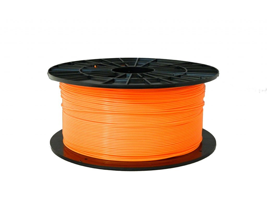 Tlačová struna, Plasty Mladeč, PLA, 1,75mm, orange, 1 kg