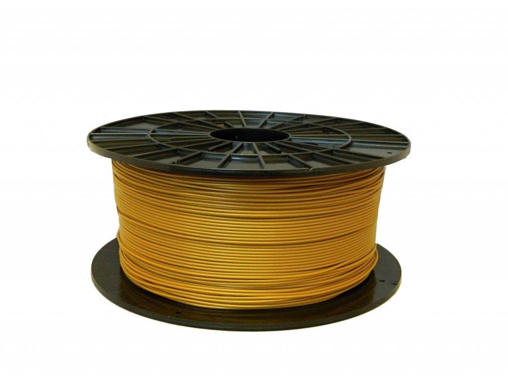 Tlačová struna, Plasty Mladeč, PLA, 1,75mm, gold, 1 kg