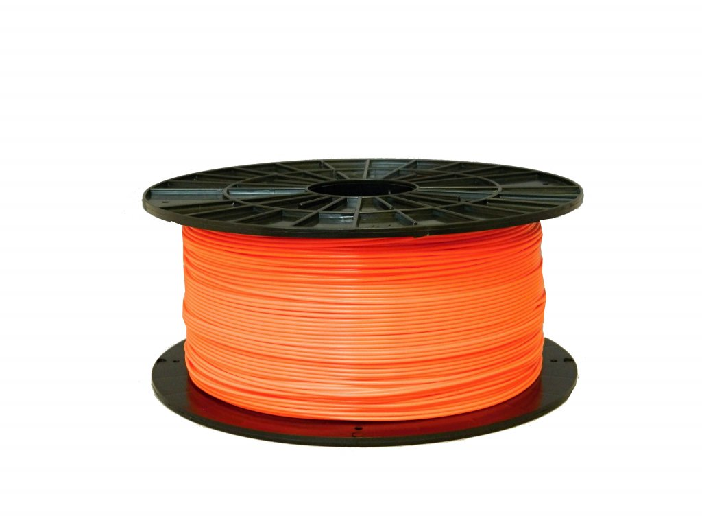 Tlačová struna, Plasty Mladeč, PLA, 1,75mm, bright orange, 1 kg