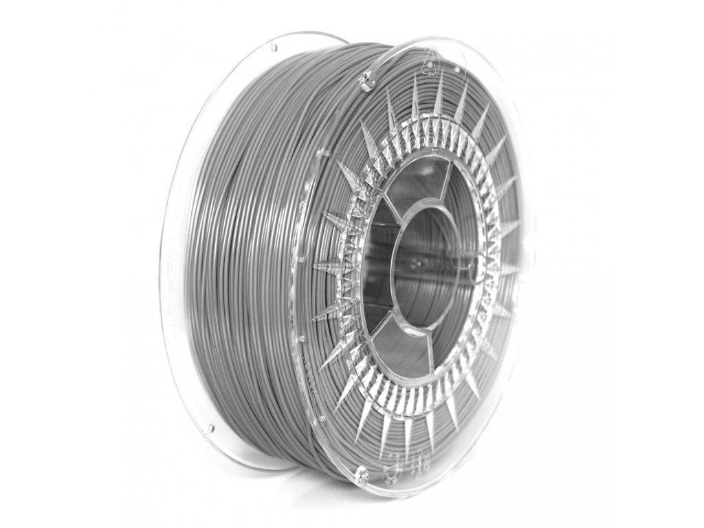 Devil Design tlačová struna PLA, gray, 1,75 mm, 1 kg; RGB  151, 153, 156; Pantone Cool grey 7