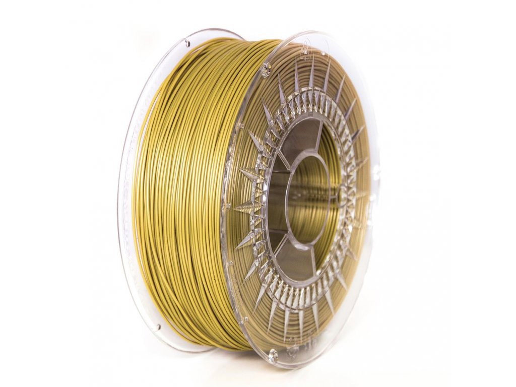 Devil Design tlačová struna PLA, gold, 1,75 mm, 1 kg