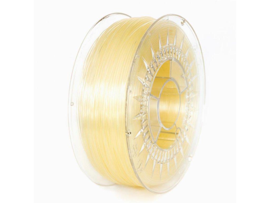 Devil Design tlačová struna PLA, transparent, 1,75 mm, 1 kg, natural