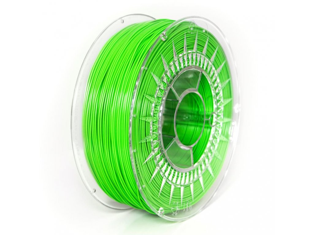 Devil Design tlačová struna PLA, 1,75 mm, 1 kg, bright green, RGB 68, 214, 44; Pantone 802C