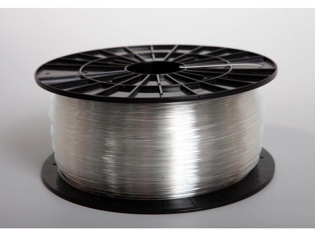 Tlačová struna, Plasty Mladeč, PET-G, 1,75 mm, transparent,1 kg
