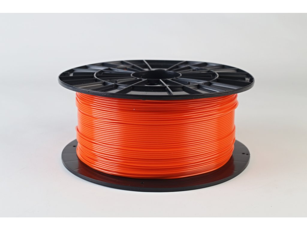 Tlačová struna, Plasty Mladeč, PET-G, 1,75 mm, orange,1 kg