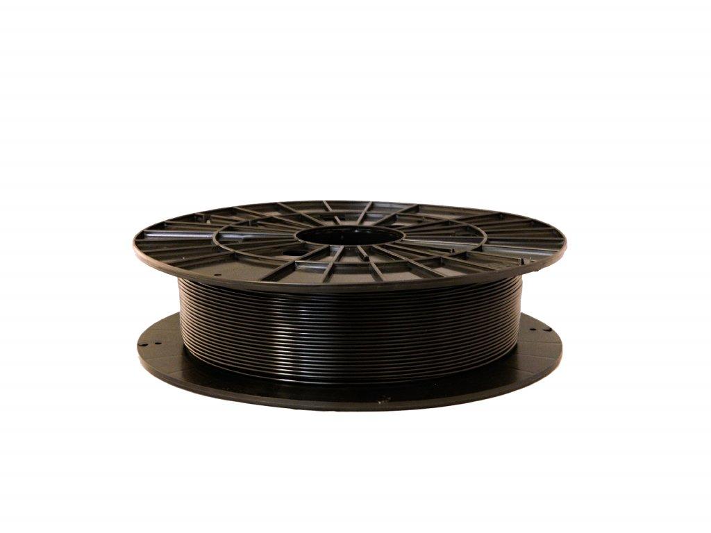 Tlačová struna, Plasty Mladeč, PET-G, 1,75 mm, 0,5kg, black transparent