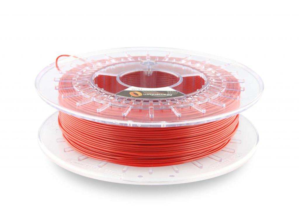 TPU značky Fillamentum 98A, 1,75mm, 0,5kg, červená RAL3001