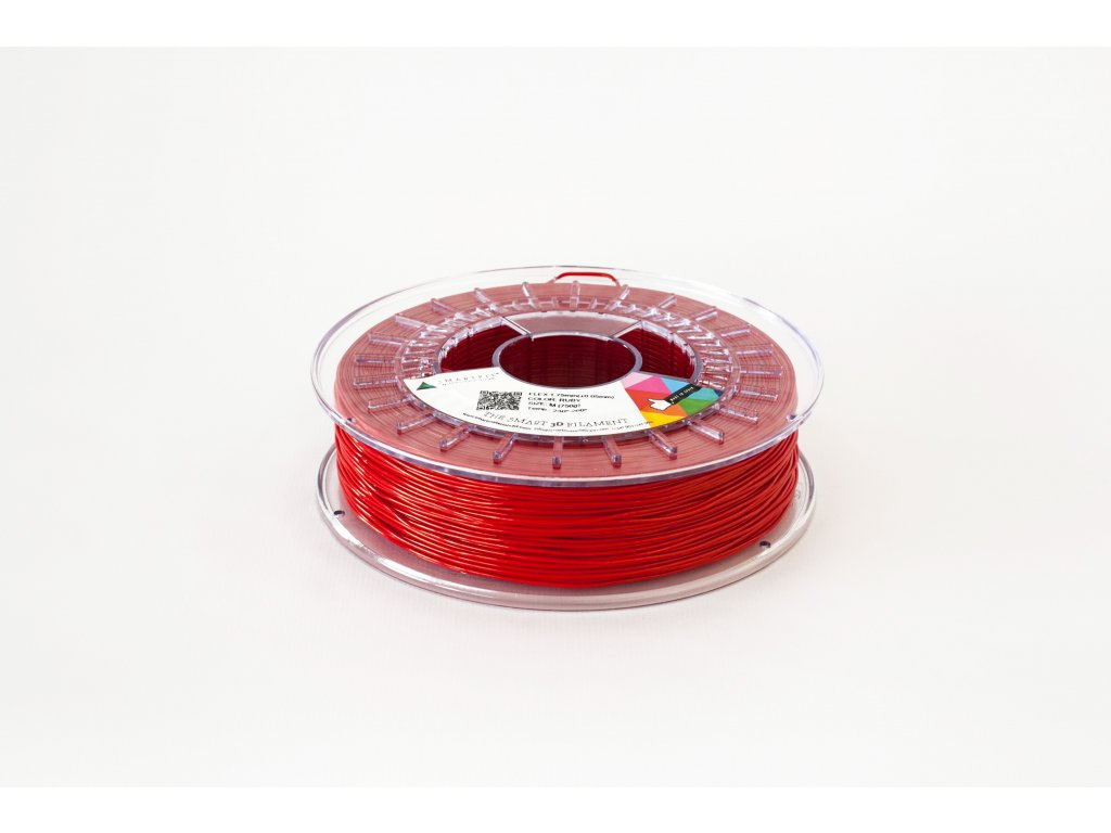 FLEX tlačová struna ruby 1,75 mm SF Pantone 485C2X, Tvrdosť 93A