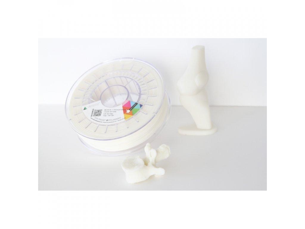 MEDICAL tlačová struna natural 1,75 mm Smartfil Pantone 1205C