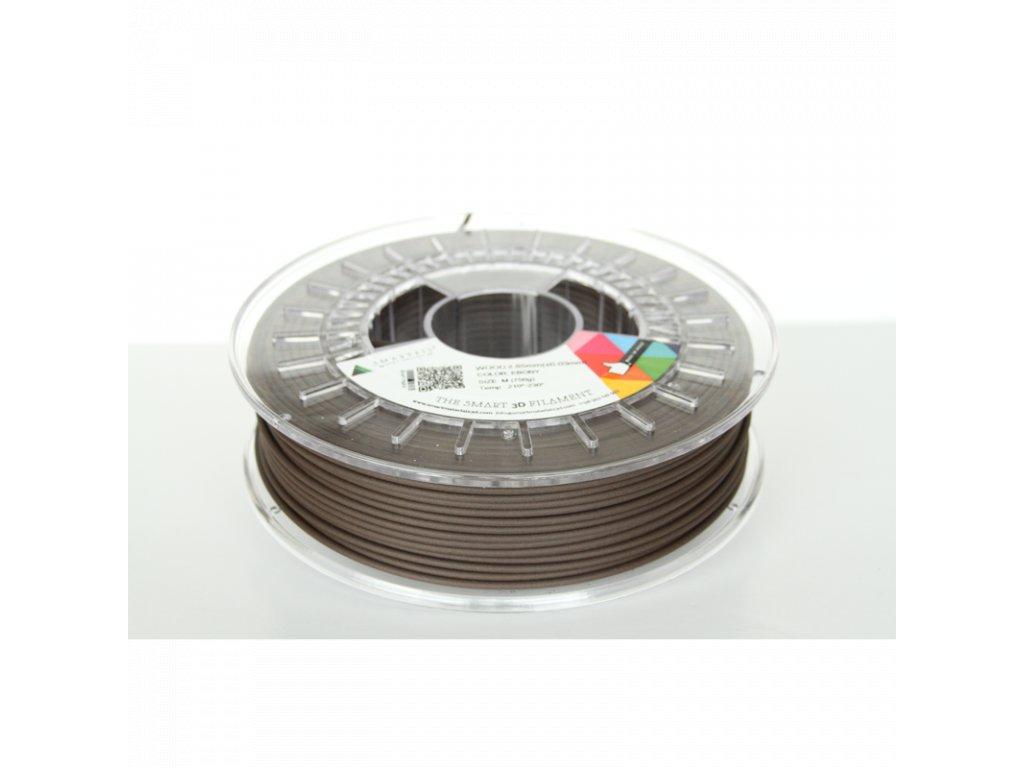 WOOD tlačová struna dark brown ebony 1,75 mm Smartfil