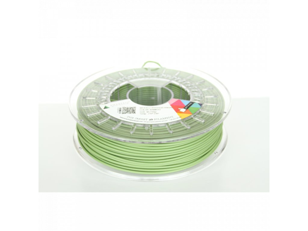 WOOD tlačová struna green bamboo 1,75 mm Smartfil