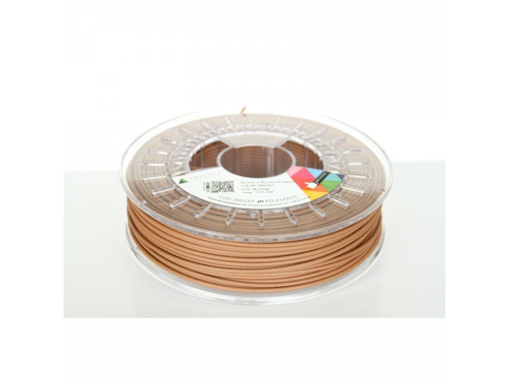 WOOD tlačová struna brown walnut 2,85 mm Smartfil