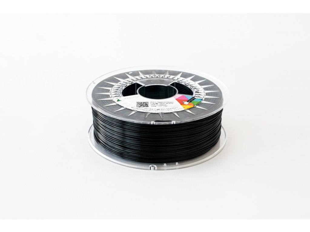 PLA tlačová struna true black 1,75 mm Smartfil