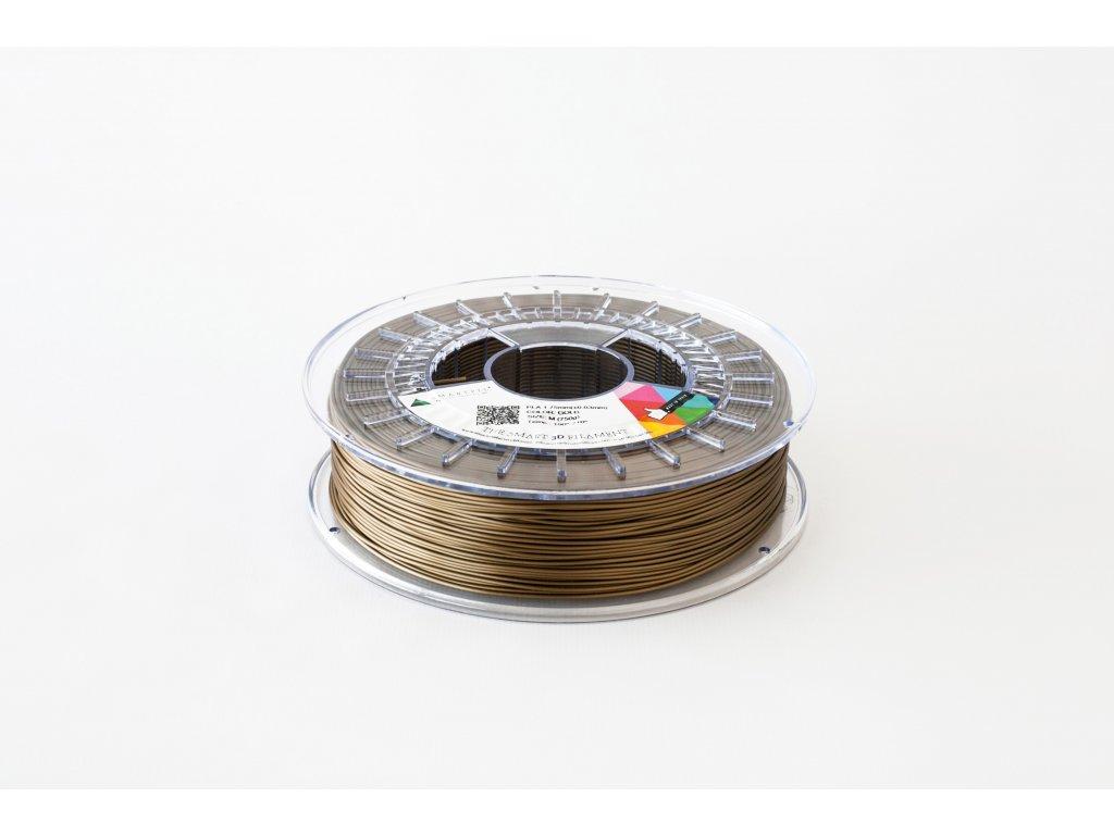 PLA tlačová struna gold 1,75 mm Smartfil Pantone 463C