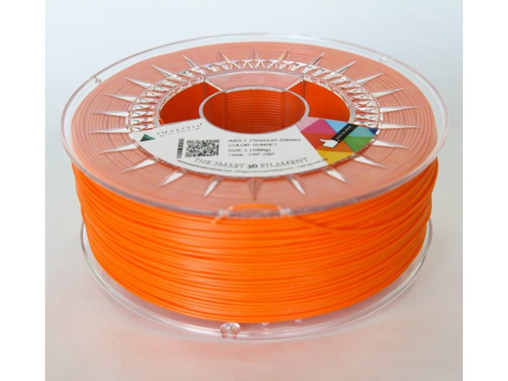 ABS tlačová strunaSunset orange 1,75 mm Smartfil Pantone 1655C