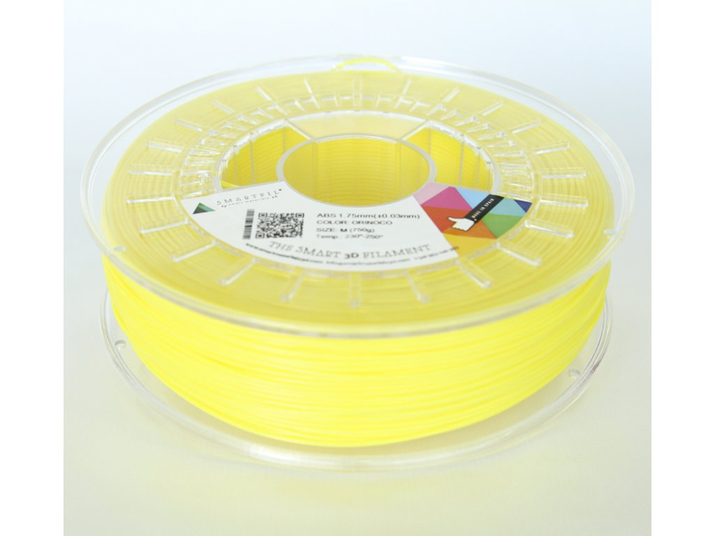 ABS tlačová struna Orinoco yellow 1,75 mm Smartfil  Pantone 102C