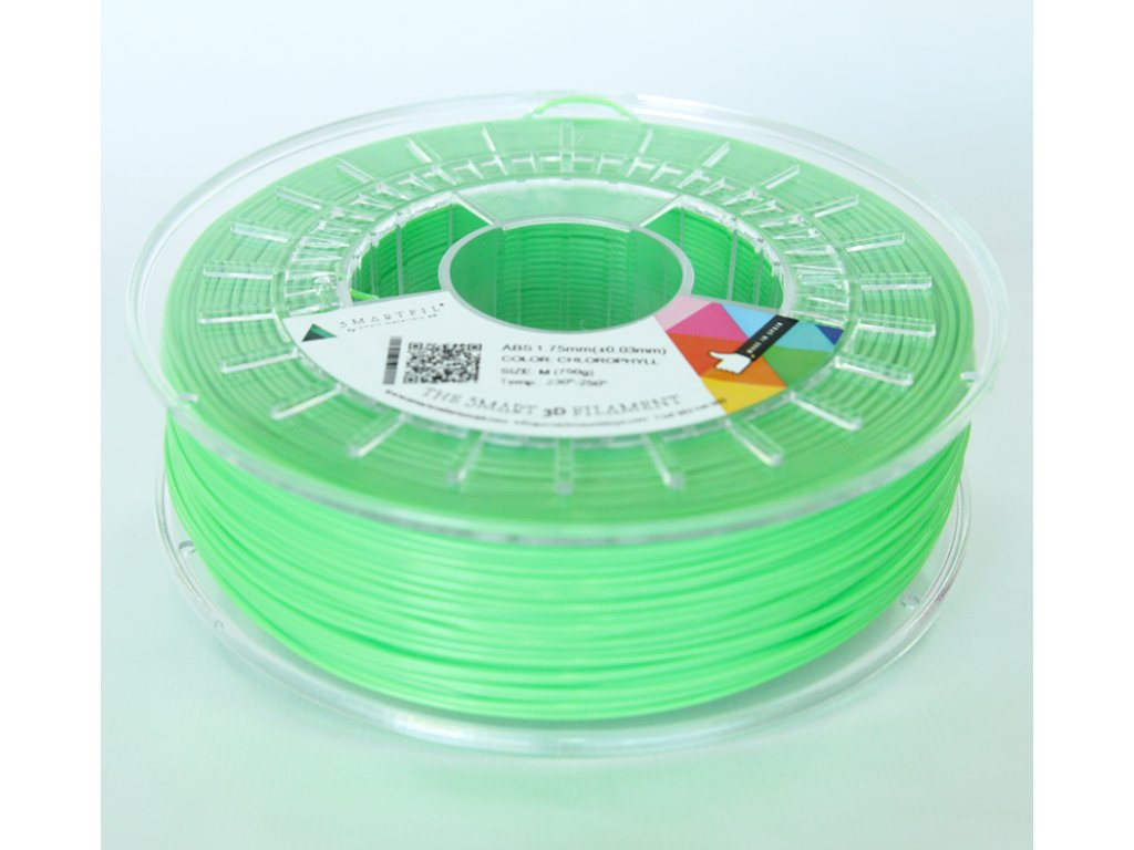 ABS tlačová struna Chlorophyl green2,85 mm Smartfil Pantone 368C