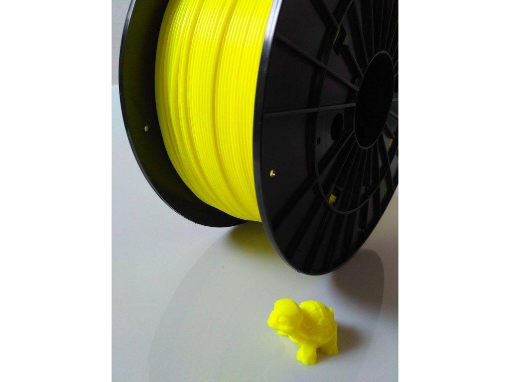 Tlačová struna, Plasty Mladeč, PLA, 1,75mm, fluorescent yellow, 1 kg