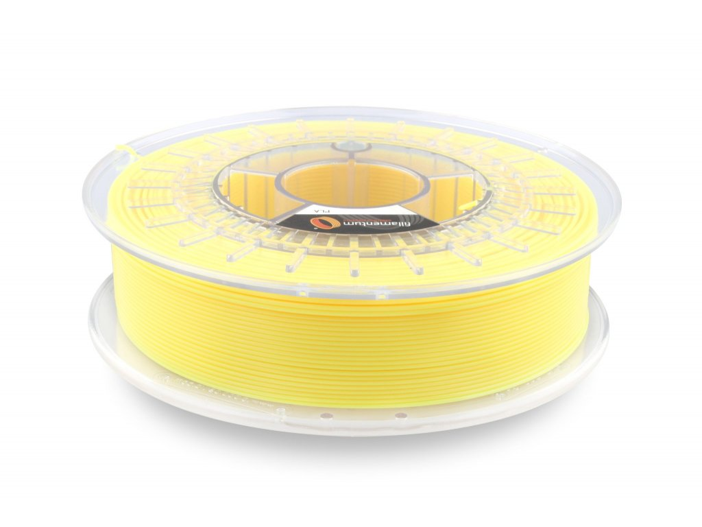 PLA Fillamentum Extrafill, 1,75mm, 0,75kg , Luminous Yellow, RAL1026