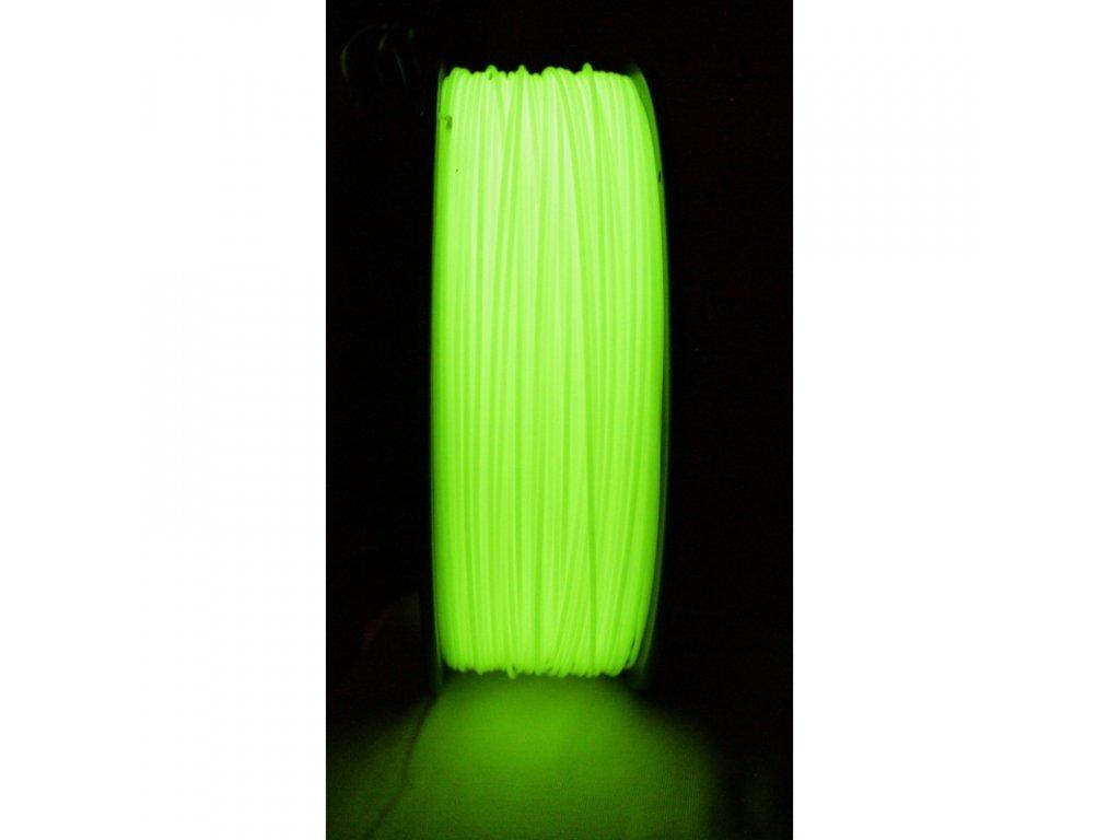 ABS luminiscenčná žltá - glow in dark yellow tlačová struna Herz 1,75mm 1kg